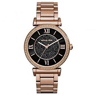 Michael Kors Watches Mk3356 Black And Rose Gold Ladies Watch
