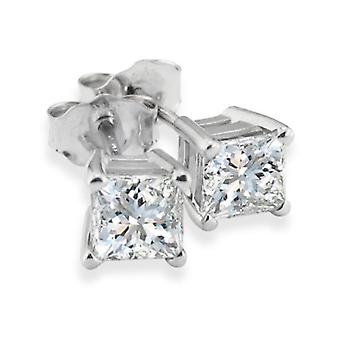 7/8ct Diamond Studs 14K White Gold