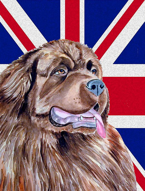 Terre-Neuve avec Taille de maison du canevas drapeau anglais Union Jack drapeau britannique
