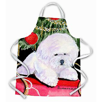 Carolines Treasures  SS8957APRON Christmas Tree with  Bichon Frise Apron