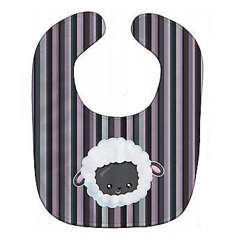 Carolines schatten BB6931BIB zwarte schaap lam gezicht Baby slabbetje