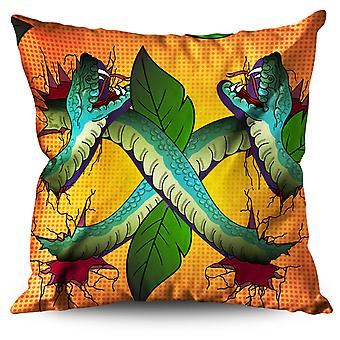 Wild Animal Snake Beast Linen Cushion Wild Animal Snake Beast | Wellcoda