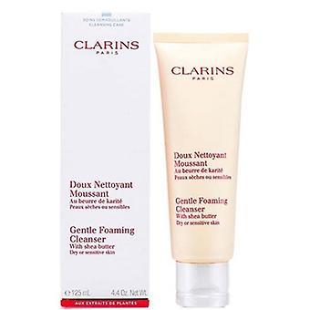 Clarins doux nettoyant moussant avec beurre de karité sec ou sensibles de la peau 4,4 oz / 125ml