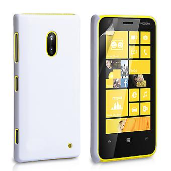 Yousave Accessories Nokia Lumia 620 Hard Hybrid Case - White