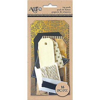 Art-C Tag Pack Kit 16 Pieces-Metallic ACCTP-27380
