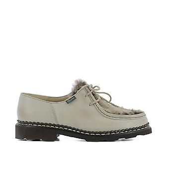 Para boot women's 130471 BEIGE beige leather lace-up shoes