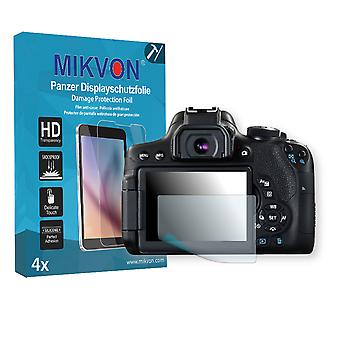 Canon EOS 750D Screen Protector - Mikvon Armor Screen Protector (Retail Package with accessories)