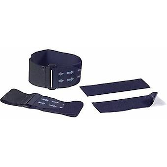 Hook-and-loop tape with strap, stick-on Hook and loop pad Black