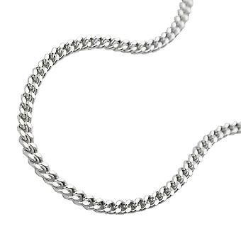 Thin curb chain silver 925 necklace 50cm