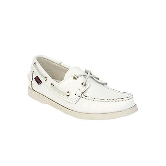 Sebago men's SBG72730WHITE White Leather moccasins