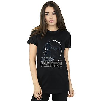 Avengers Women's Infinity War Black Panther Character Boyfriend Fit T-Shirt