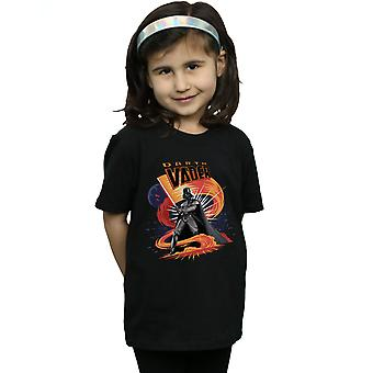 Star Wars Girls Darth Vader Swirling Fury T-Shirt