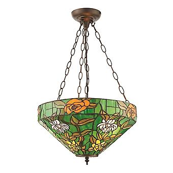 Interiors 1900 Agapantha 3 Light Inverted Ceiling Pendant With T