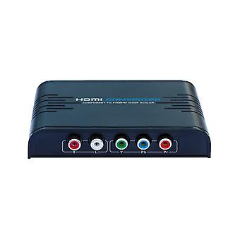 Component video (YPbPr) to HDMI converter. 5Gbps, black