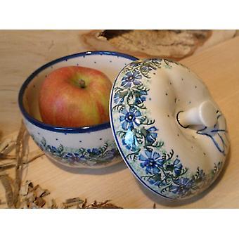 Bagt æble, Ø 12 cm, 12 cm høj, tradition 7 boleslawiec aardewerk - BSN 4881