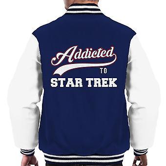 Addicted To Star Trek Baseball Font Men's Varsity Jacket