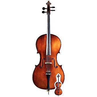 Sagoma di cartone strumento musicale violoncello / Standee / Standup