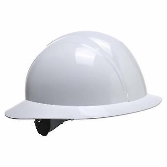 Portwest - Site Safety Workwear Full Brim Future Hard Hat Helmet White