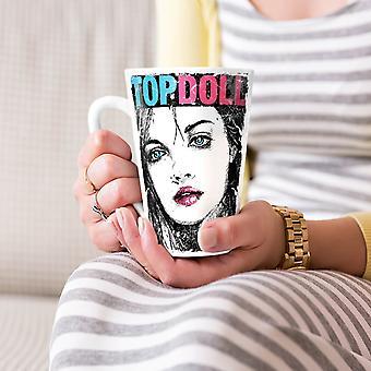 Girl Top Doll Face Sexy NEW White Tea Coffee Ceramic Latte Mug 17 oz | Wellcoda