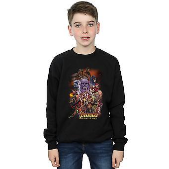 Marvel Boys Avengers Infinity War Character Poster Sweatshirt
