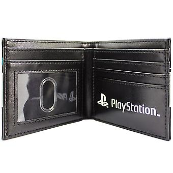 PlayStation konsollen PS1 Retro Controller knapper sort ID & Card Bi-Fold tegnebog