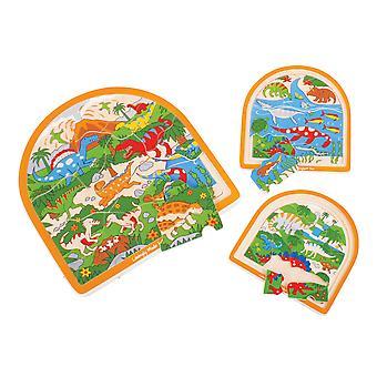 Bigjigs Toys klobige hölzerne Dinosaurier Pre historischen gewölbt Jigsaw Puzzle