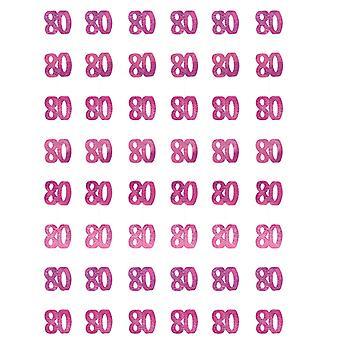 Verjaardag Glitz Pink - 80ste verjaardag Prism hangende decoratie