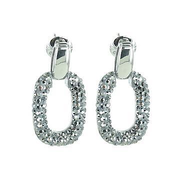 Aretes de acero inoxidable Joop mujer plata forma de óvalo JPER10019A000