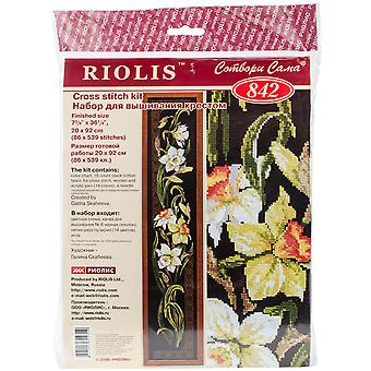 Daffodils Counted Cross Stitch Kit-7.75