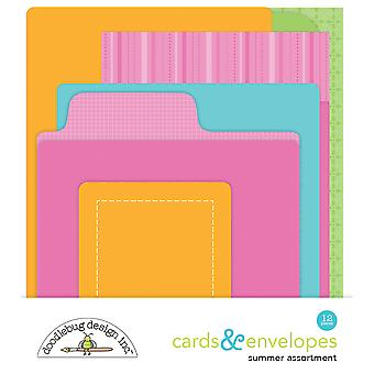 Doodlebug Cards & Envelopes 12/Pkg-Summer