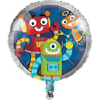 Robot foil balloon Ø ca 46 cm1 piece birthday theme party