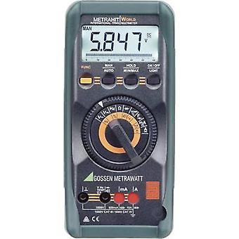 Gossen Metrawatt METRAHIT verden håndholdte multimeter Digital kalibreret til: DAkkS standarder kat III 1000 V, kat IV 600 V Display (tæller): 6000