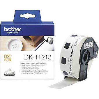 Brother Labels (roll) Ø 24 mm Paper White 1000 pc(