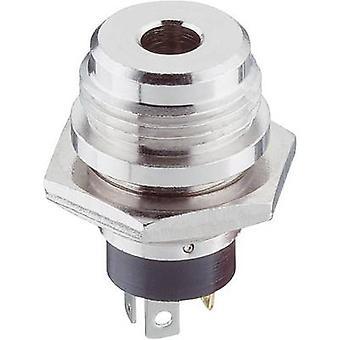 Lumberg 1502 04 3.5 mm audio jack Socket, vertical vertical Number of pins: 3 Stereo Silver 1 pc(s)