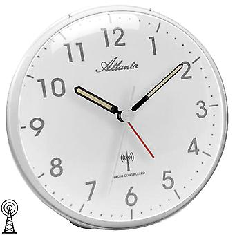 Atlanta 1828/19 alarm clock radio alarm clock silver light snooze quietly without ticking