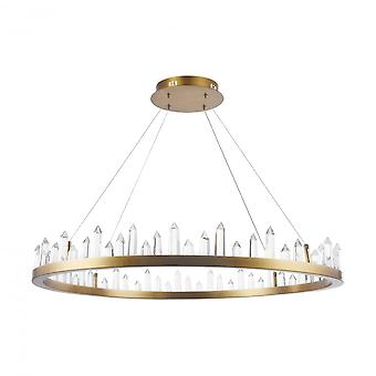 Maytoni Lighting Gletscher House Pendant, Brass
