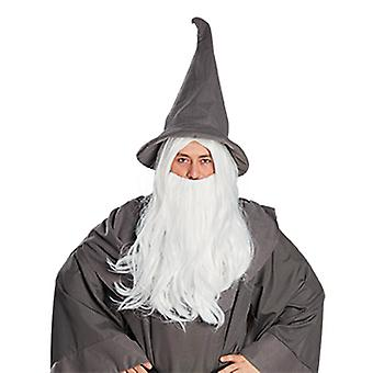 Long white Wizard beard
