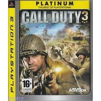 Call of Duty 3 spillet platina PS3 spill