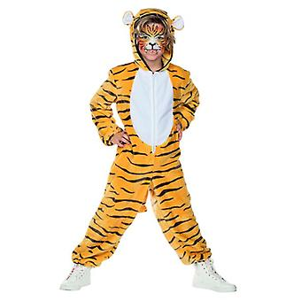 Tigeroverall Kostüm Kinder Unisex Tierkostüm Raubkatze Tiger