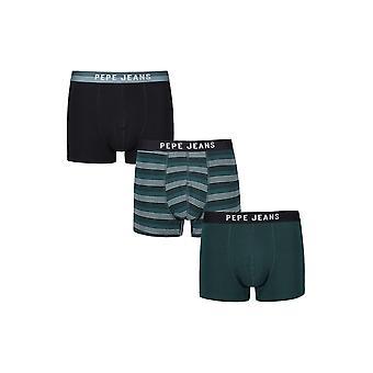 New Designer Mens Pepe Jeans Short Boxer Trunk Shortsritchie Gift Set