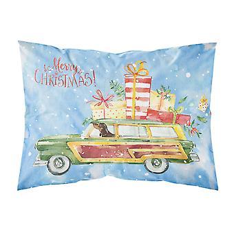 Merry Christmas Dachshund Fabric Standard Pillowcase