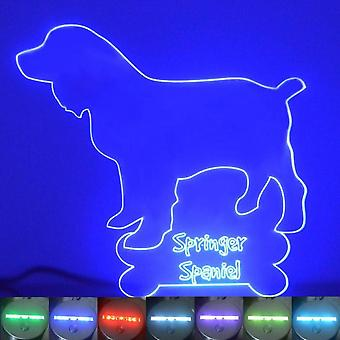 Springer Spaniel Dog Colour Changing LED Acrylic Light