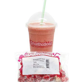 Smootheelicious Erdbeer Split Smoothie Beutel eingefroren