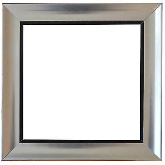 Träram i silver, innermått 40x40 cm