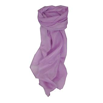 Mulberry Silk Hand Dyed Square Scarf Lilac from Pashmina & Silk