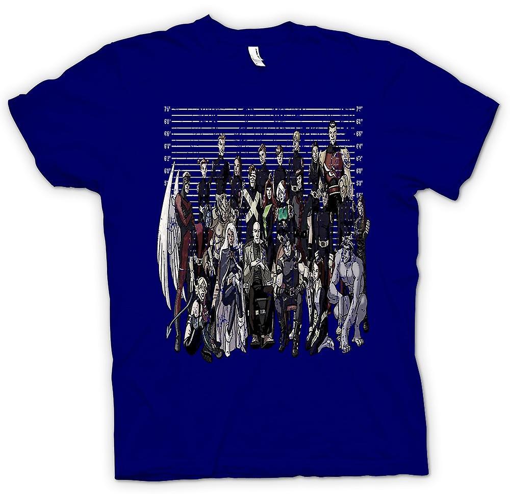 Mens t-shirt-X Men - Mug Shot - Funny