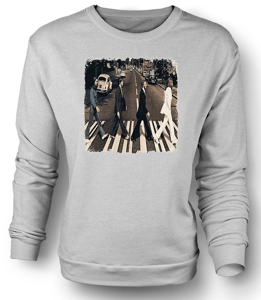 Mens Sweatshirt Beatles - Abbey Road - albumgrafikk
