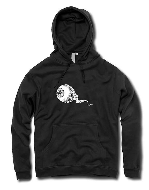 Mens Hoodie - Eyeball Black & White Design