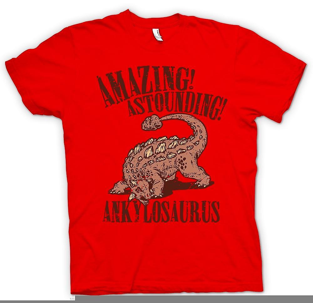 Mens t-skjorte - utrolig forbløffende Ankylosaurus - Cool Dinosaur