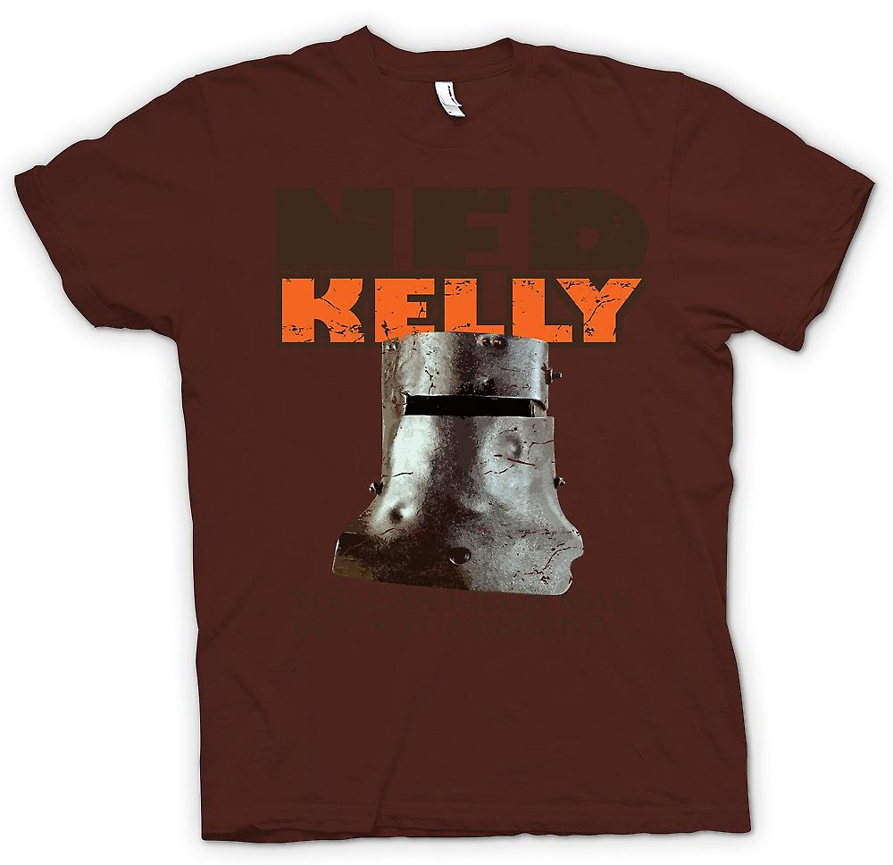 Mens T-shirt - Ned Kelly - You Can Kill A Man But Not A Legend